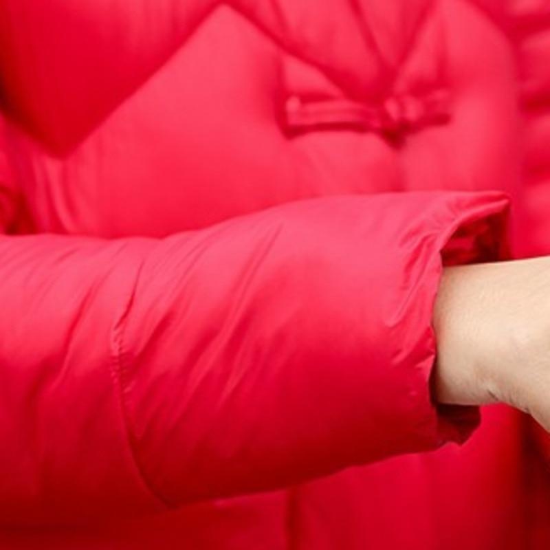 Long Vintage Pardessus purple Femmes Hiver Vêtements Taille Rembourré Veste red Coréenne 2018 La Manteau De Femelle Coton Black A487 Slim Des Bas Style Plus vBTxX