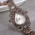 Retro Turkish Royal Jewelry Heart Quartz Watches Bracelet For Women Clock Ladies Vintage Gold Slim Wrist Watch Bangles Bracelets