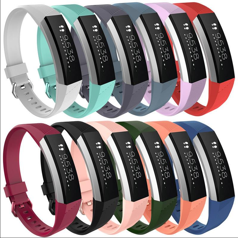 Luxury Silicone Classic Wrist Band font b Watch b font Strap For Fitbit Alta HR Heart