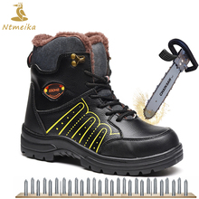hot deal buy plus size 38-45 men work safety shoes steel toe insole winter leather work boots for men breathable wear-resisting safety boots