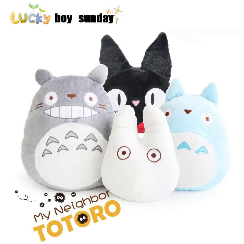 Gefüllte & Plüschtiere Japan Anime Totoro Plüsch Spielzeug Weiche Angefüllte Kissen/kissen Cartoon Weiß Totoro Puppe/kikis Delivery Service Schwarze Katze Kinder Spielzeug Puppen & Stofftiere