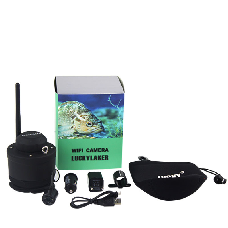 Lucky wifi fishing camera 80m wireless operating range for Wifi fish finder