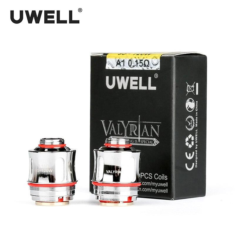 UWELL 2 Pcs/Pack VALYRIAN Remplacement A1 Kanthal Quad Bobine 0.15ohm 95-120 W Pour VALYRIAN Cigarette Électronique Atomiseurs Réservoir