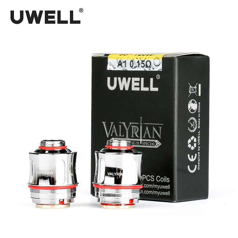 UWELL 2 unids/pack VALYRIAN reemplazo A1 Kanthal bobina Quad 0.15ohm 95-120 W para VALYRIAN cigarrillo electrónico atomizadores tanque