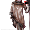 Sexy transparente marrom com Preto babados blusa mangas Meia de Látex de Borracha Gummi roupas pijama uniforme roupas QZ-099