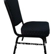 Горячая Распродажа, окрашенное стальное банкетное кресло с черной отделкой LUYISI1030black