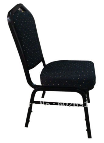 Hot sale black finish painted stacking steel banquet chair LUYISI1030black hot sale stacking steel banquet chair luyisi1039