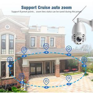 Image 5 - 20X التكبير 1080P 5MP واي فاي PTZ IP كاميرا في الهواء الطلق 2 طريقة الصوت مقاوم للماء IP66 كامل اللون للرؤية الليلية الأمن كاميرا تلفزيونات الدوائر المغلقة P2P CamHi