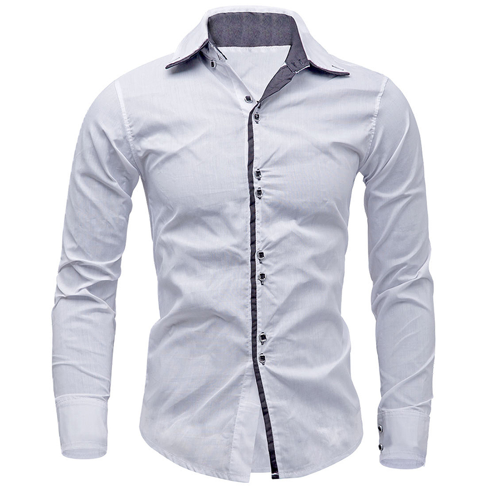 New Arrivals Men Shirt Brand British Style Long Sleeve Male Slim Fit