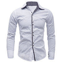 New Arrivals Men Shirt Brand British Style Long Sleeve Male Slim Fit Business Casual Clothes Men