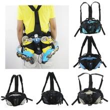 Skatepack Quad Roller Skate Bag Shoulder Backpack Waist Pack Portable Polyester Sports Bags for Sneakers 31x18x24cm
