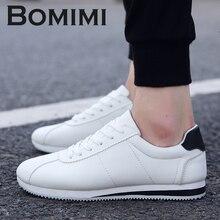 BOMIMI Men Canvas Shoes Spring Fashion Men's Flats Canvas Shoes Lace Up Breathable Casual Shoes Size 39-44 Men Sneakers