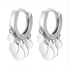 Everoyal Fashion Women Gold Hoop Earrings Jewelry 925 Sterling Silver Earring for Girls Princess Party Accessories Lady