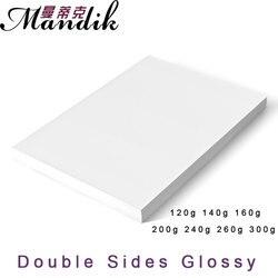 Alta brillante 50 hojas A4 de papel fotográfico de impresión de doble cara