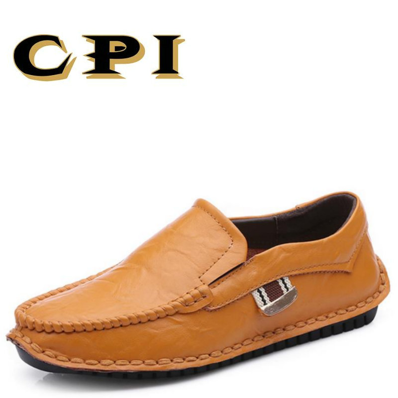 CPI New British Style lightweight Men's casual leather shoes  Men Fashion slip on Comfortable Breathable  Drivers Loafer DD-31 cbjsho british style summer men loafers 2017 new casual shoes slip on fashion drivers loafer genuine leather moccasins