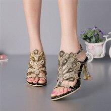 2016 Summer New Korean Elegant Heels Women's Shoes Diamond Peep Toe Sandals Size 11 Black Wedding High Heel