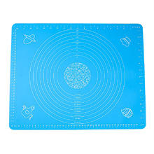 Large silicone pad high temperature resistant silica gel chopping board operation table pad with scale