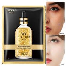 Изображения 24K gold nicotinamide маска для лица Антивозрастная увлажняющая термоусадочная маска для лица корейский уход за кожей