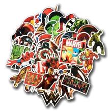 Новые 50 шт./лот наклейки для MARVEL Super Hero для автомобиля ноутбука Наклейка на Холодильник Скейтборд Бэтмен Супермен, Халк Железный человек