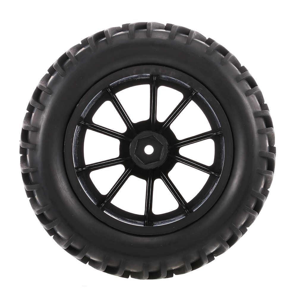 4 piezas RC coche 1:10 neumático todoterreno Doble V patrón de rodadura 10 radios llanta para 1/10 HSP HPI redcat RC4WD RC camiones