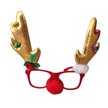 Novelty  Christmas decoration glasses frame Handmade childrens gifts masquerade jewelry headband