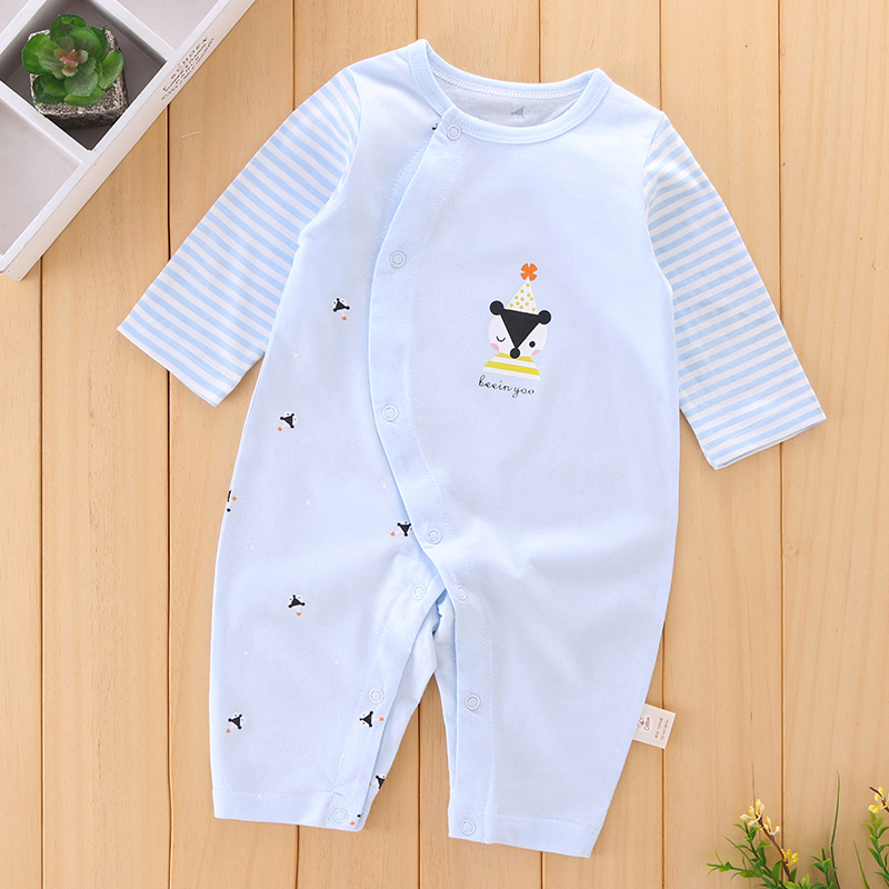 2018 New Baby Onesie Romper Long Sleeve Cotton Boy Girl Clothes