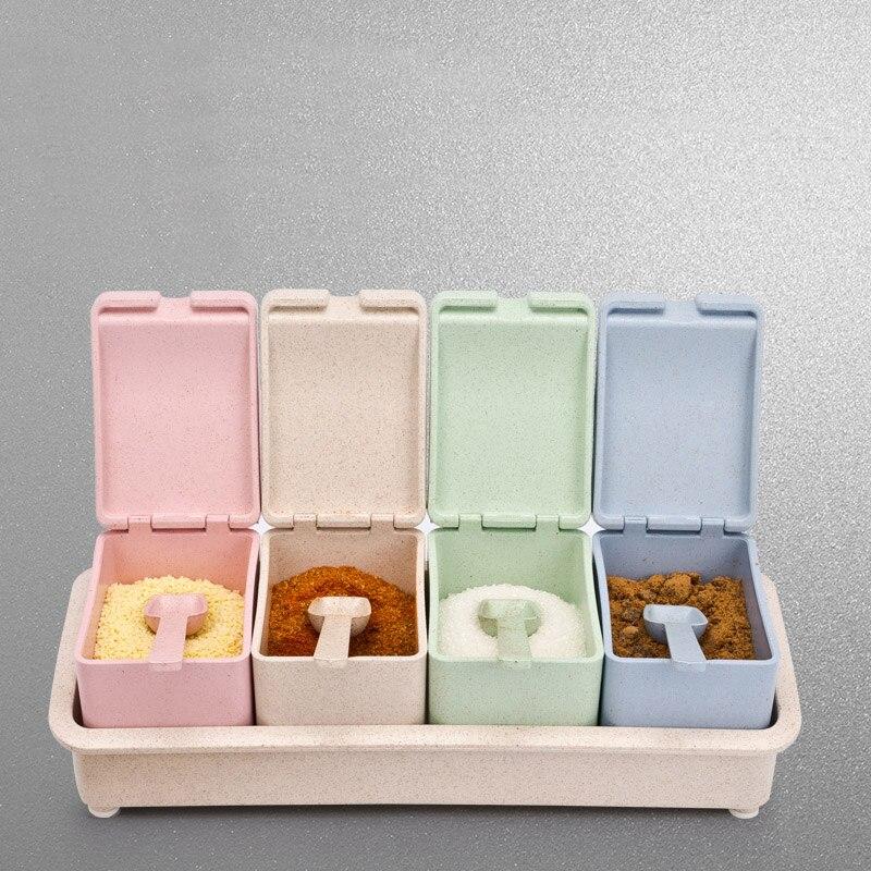 Nouvelle arrivée Cuisine Nécessaire En Plastique Épices Boîte Assaisonnement Boîtes avec Couvercle Cuisine Outils Poivre Assaisonnement Boîte Livraison Shipping64091