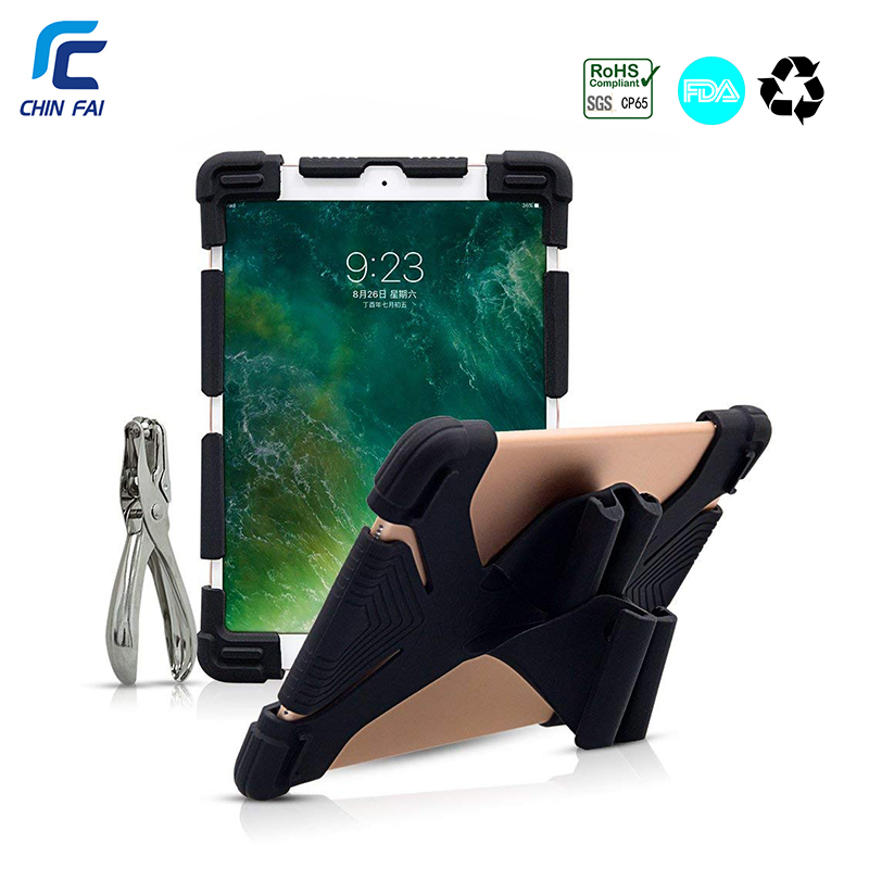 Universal Silicon Case for 9.7 10 10.1 10.5 10.8 inch Tablet Case for iPad Air 2018 SM T590 T835 Huawei M5 BDF 10 with Puncher