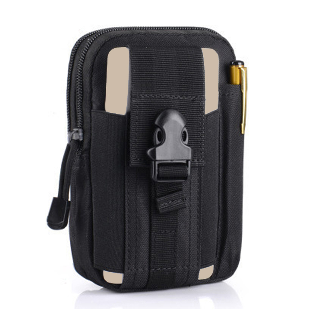 Tactical Molle Pouch Cell Phone Case Belt Clip Holster EDC Utility Gadget 1000D Nylon Men Waist Bag Outdoor Gear  gadget