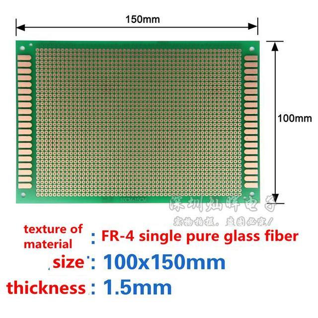 5PCS Single panel PCB 10X15 10*15CM High quality bakelite/ universal/  experiment board /green oil/ circuit board /PCB board