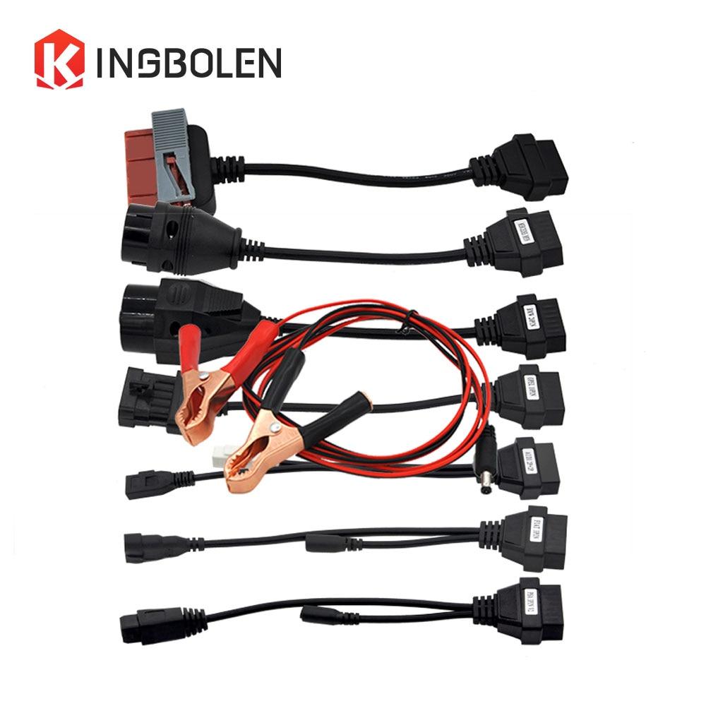 Prix pour Câbles de voiture pour TCS CDP Multidiag pro + MVD Professionnel outil De Diagnostic connecteur Ensemble Complet 8 pcs Voiture Câble OBD/OBDII 16pin