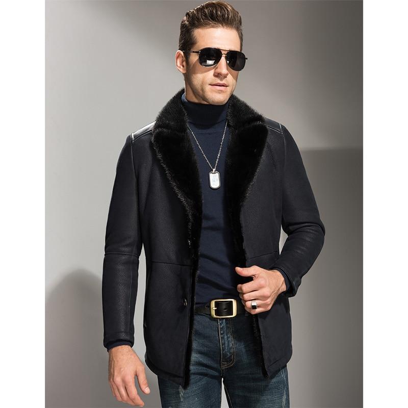 giacca montone uomo nero