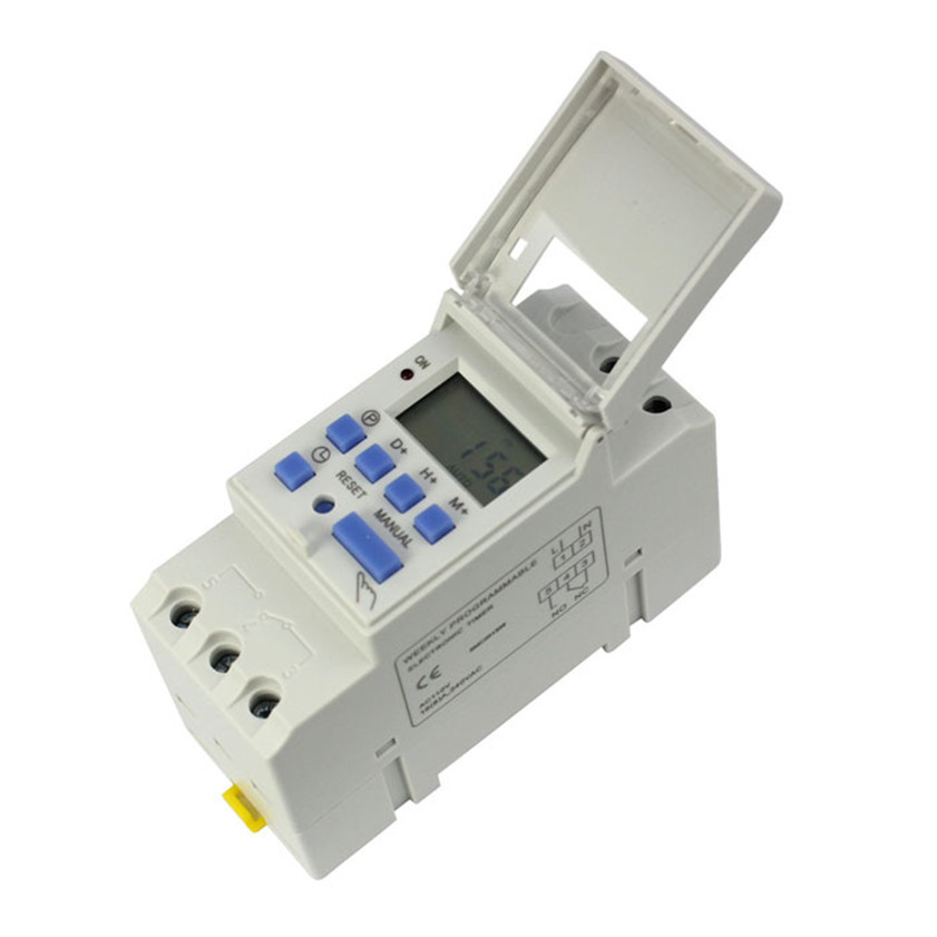 High Quality New 15A 110V 220V Digital LCD Weekly Programmable Timer Time Relay Switch 1 14