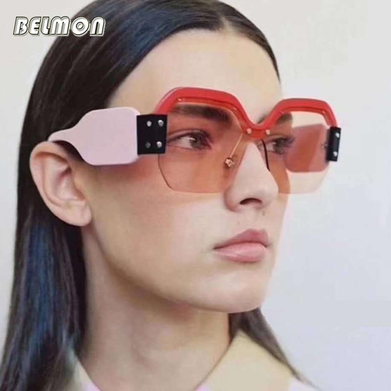 Sunglasses Women Fashion Brand Designer Oversized Sun Glasses Ladies For Luxury UV400 Gradient Female Oculos de sol Shades RS575