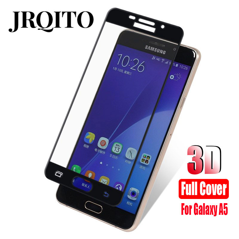 Galleria fotografica JRQITO 9H Full Cover Tempered Glass For Samsung Galaxy S7 S6 Screen Protector For Samsung A3 A5 A7 J2 J5 J7 Prime Tempered Glass