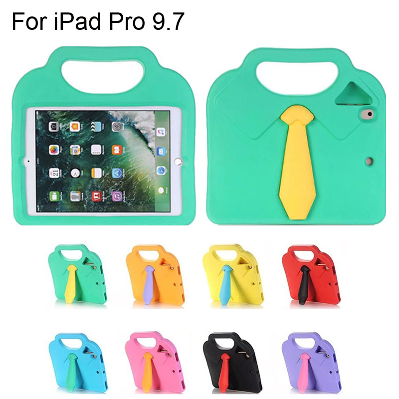 EVA Shockproof case for iPad Pro 9.7 inc stand holder silicone hard drop resistance chil ...