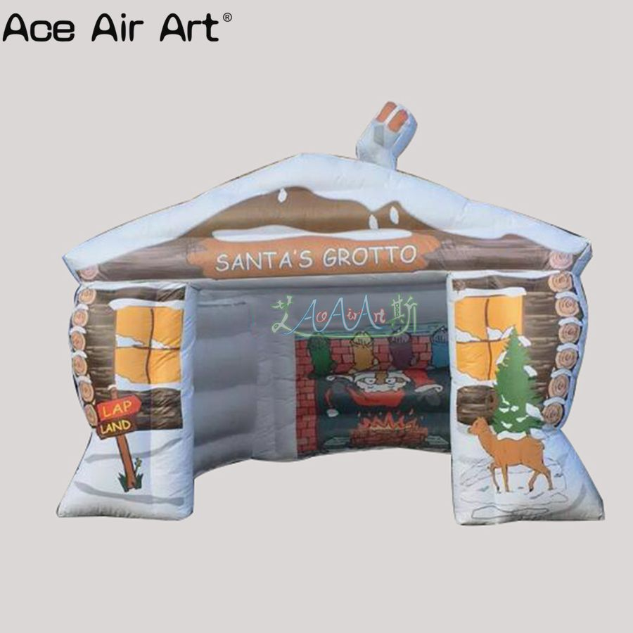 Pergola Eckverbinder Free Shipping Attractive Funny Christmas Inflatable Santa Grotto Inflatable Santa House For Sale