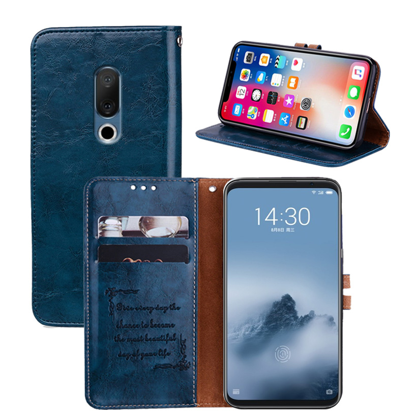 Newest Wallet Case For Meizu 16th Case Back Cover Book Case 6.0 Special PU Leather Flip Cover Phone Bag B01