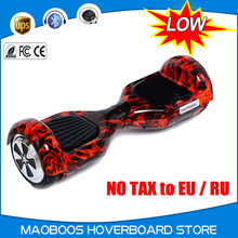 16 colors 6.5 inch  Led light 2 wheel self balance electric scooter 4.4 amh 36V balance hoverboard skateboard for adult kid