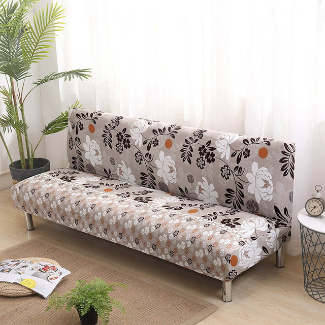 Universal Armless Sofa Bed Cover Folding seat slipcover Modern ...