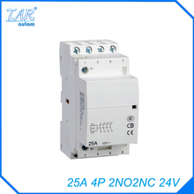 ICT modular small household AC contactor  25A 2NO2N Modular Normally Closed Contactor with electric machincal types of contactor sayoon dc 36v contactor czwt150a contactor with switching phase small volume large load capacity long service life