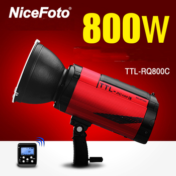 NiceFoto TTL-RQ800C TTL 2.4G Wireless GN78 HSS 1/8000S Studio Flash High Speed Speedlite with Transmitter for Canon DSLR Camera