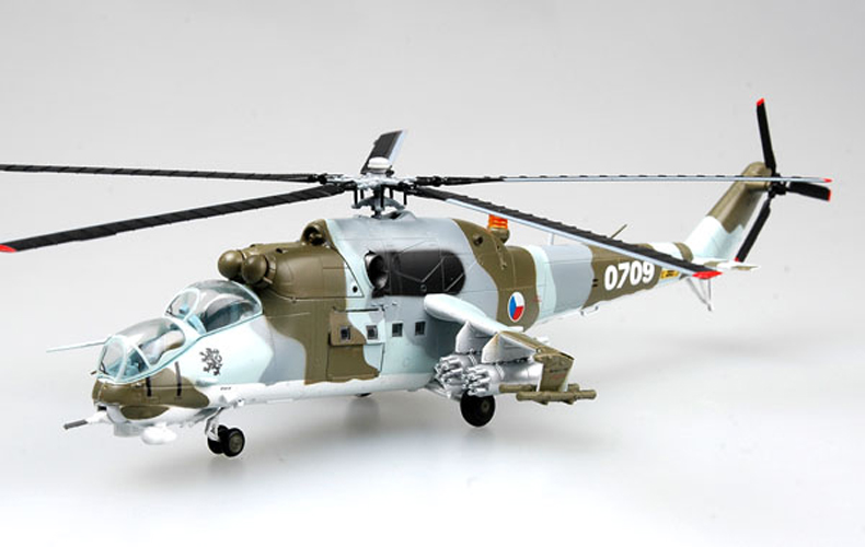 <font><b>Trumpet</b></font> <font><b>1</b></font><font><b>:</b></font><font><b>72</b></font> Russian air force Mi-24 armed helicopter 37036 finished product model image