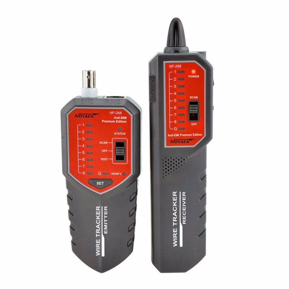 все цены на NOYAFA NF-268 Wire Tracker Network Telephone Cable Finder No Noise Wire Toner Tracer Tester with Anti-jamming Function онлайн