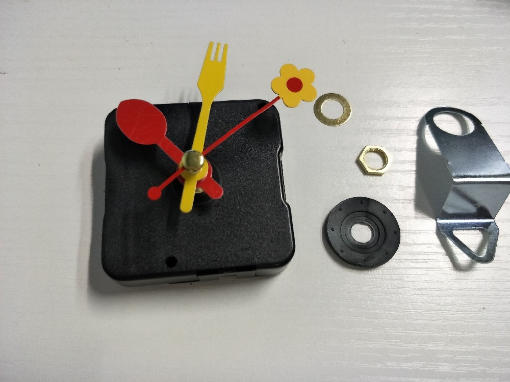 Children Lovely Flower Fork Spoon Clock Pointer Hands for Clock Movement Repair