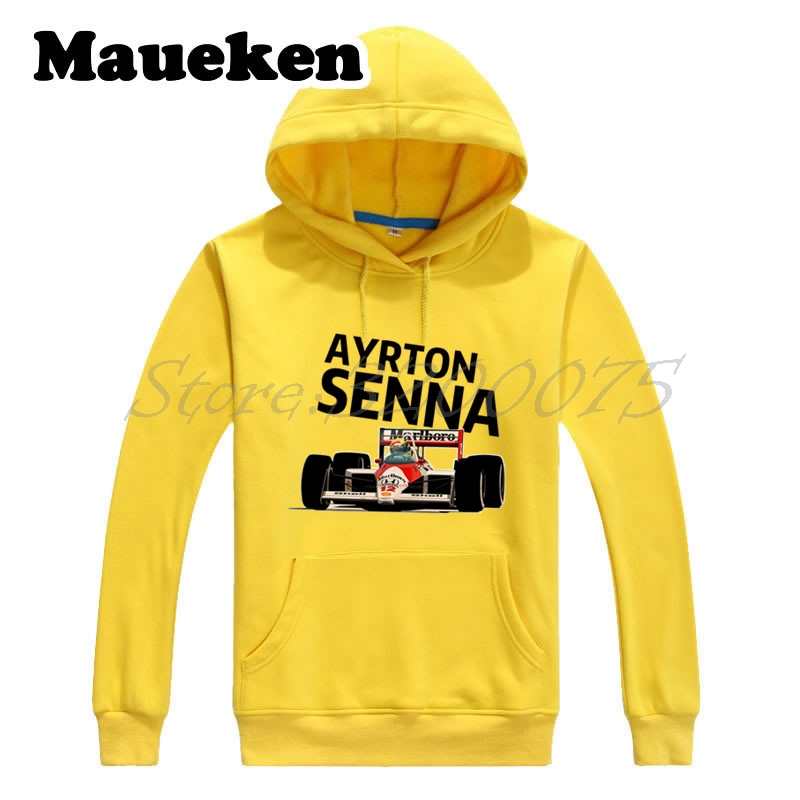 Men Hoodies Ayrton Senna da Silva #12 Brazil 1 World Championship 1988 1990 1991  Sweatshirts Hooded Thick gift Winter W17120220