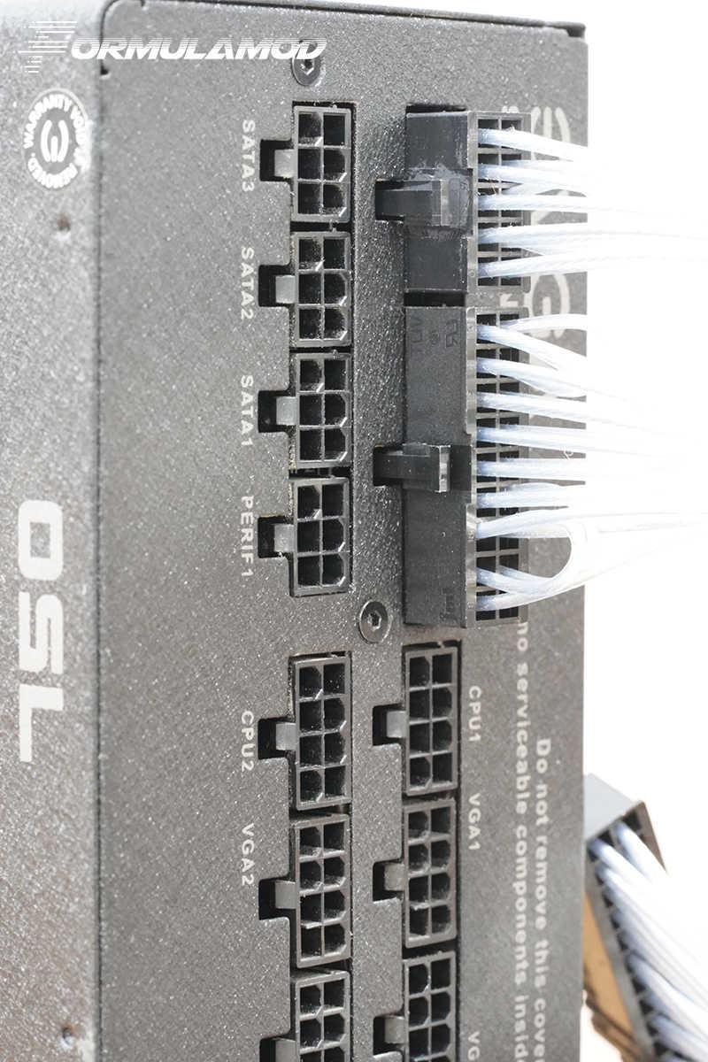 FormulaMod Fm-EVGA-SL 、完全モジュラー PSU ケーブル、 18AWG シルバーメッキ、 EVGA ため G2 G3 グラム + シリーズモジュラー PSU