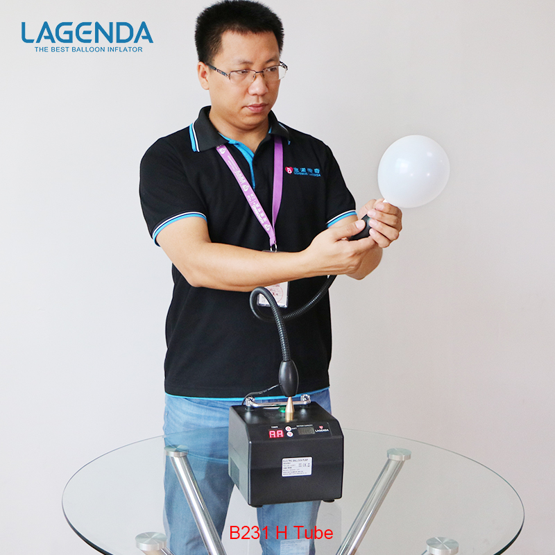 B231 Professional Lagenda Twisting Modeling Balloon Inflator med Batteri Digital Tid og Counter Electirc Balloon Pump