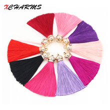 High Quality 70*10mm Handmade Silk Tassel For Jewelry Making DIY Acessories Suede Tassels for Key Rings for earring making