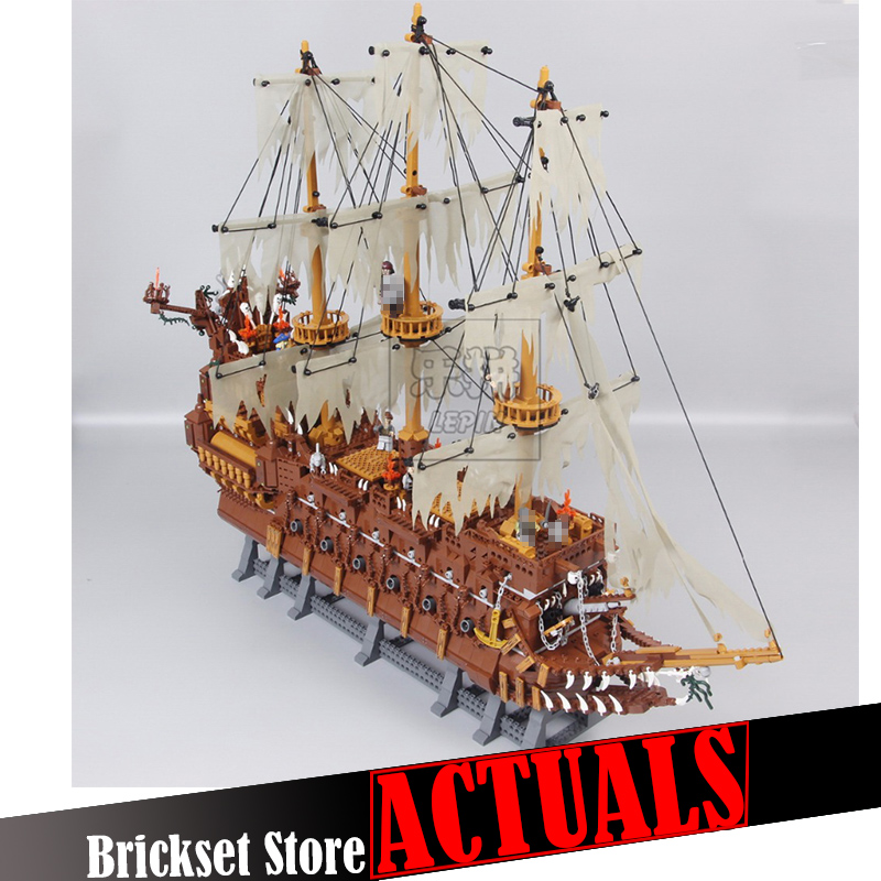 Lepin 16016 3652Pcs Pirates The Flying Dutchman Building Blocks Bricks Educational DIY Toys Model for children Christmas Gifts lepin 22001 imperial warships 16006 black pearl ship model building blocks for children pirates series toys clone 10210 4184